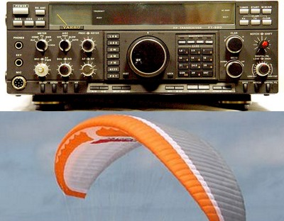 Ham Radio and Paragliding for sale